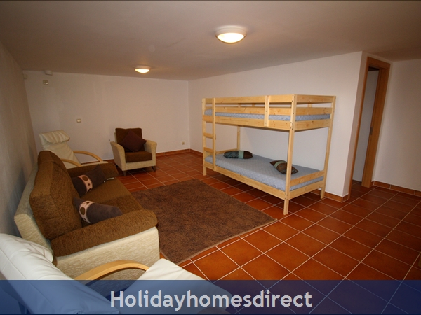 A double bed or bunk beds in Third bedroom.