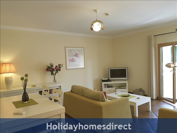 Domusiberica Apartment Fd.. In Burgau Village Walk To Everywhere Including The Beach.: Apt Lounge opens to the veranda
