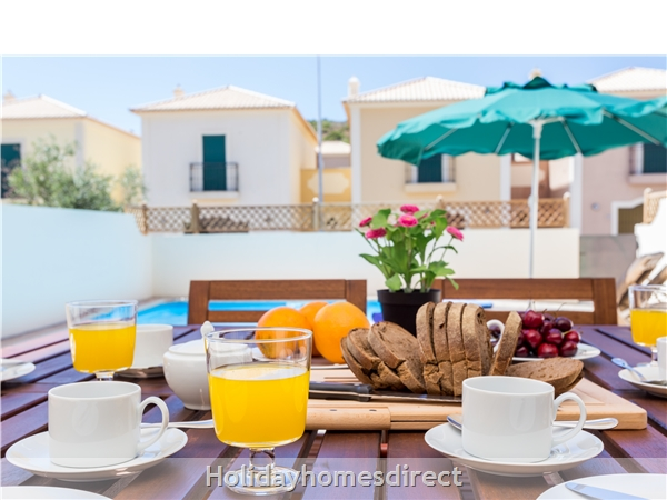 Domusiberica Villa 33. 2 Bedrooms, Full A-c, Private Pool.: Breakfast by your own private pool!