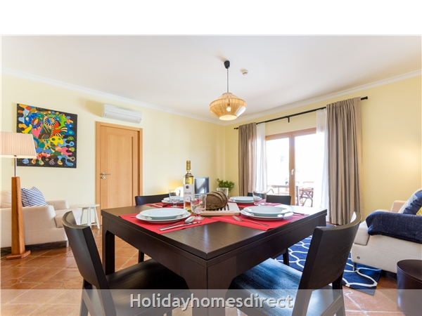 Domusiberica Villa 33. 2 Bedrooms, Full A-c, Private Pool.: Dining area and lounge open to veranda