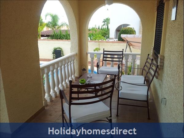 Baricia, A Spacious Villa, Private Pool, On A Large Plot.: Sundowner Terrace