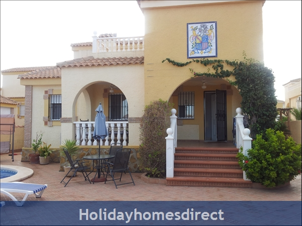 Baricia, A Spacious Villa, Private Pool, On A Large Plot.: Front from front gate