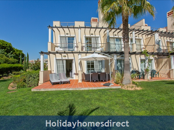 Casa James, Vilamoura, Is A Luxury 4 Bedroom Townhouse (fully Refurbished In 2018) And Located In The Beautiful, Gated Community Of Palmyra, Vila Sol.: Ground floor terrace
