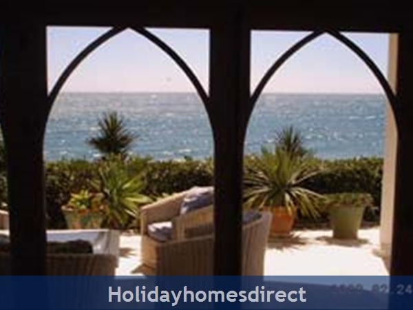 Beachfront Villas: View of sea from villa
